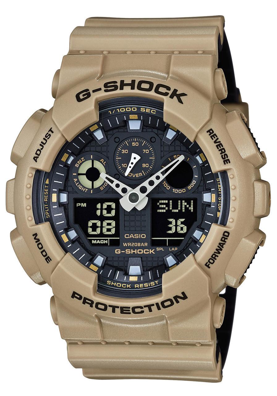 b50a55d07644 Reloj para hombre CASIO GA-100-1A Serie Militar de Desierto - MakaCel
