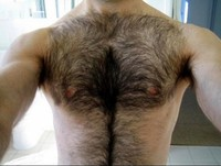 Good have a hairy chest shoulders