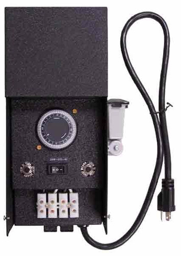 Low Voltage Landscape Transformer 600W with Timer and Photocell.