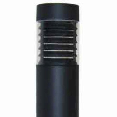"15 Watt LED 7"" Round Bollard Flat Top and Louver Reflector"