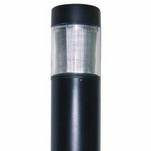 "15 Watt LED 7"" Round Bollard Flat Top and Type 3 Reflector"