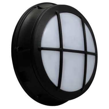 "12"" LED 17W Bulkhead Grid Frame Round Wall Light"