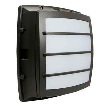 """12"""" LED 17W Bulkhead Grid Face Square Wall Light"""