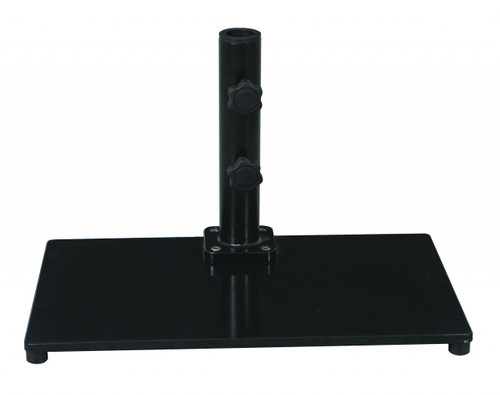 Galtech 40 lb. Premium Cast Iron Square Stand For Half Wall Umbrellas, Model 040SQ - Free Shipping