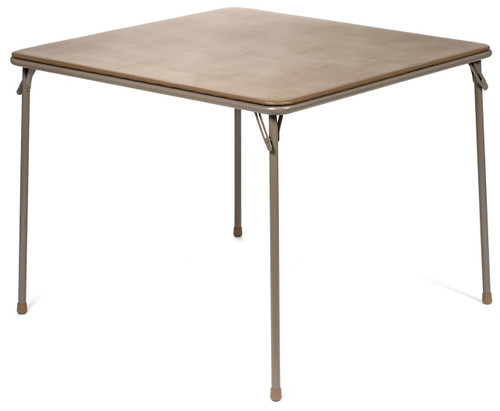 "XL Series 38"" Square Folding Card and Game Table, Wheelchair Accessible, Beige - Free Shipping"