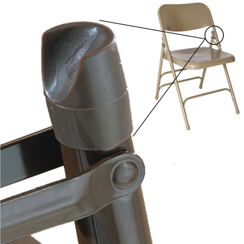 """100 pk. Plastic Stability Caps for Metal and Padded Folding Chairs, Fits 7/8"""" OD Tube"""