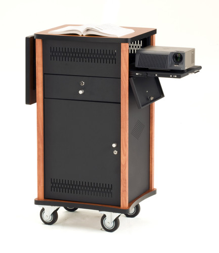 Multi Media Cart By Oklahoma Sound - Wild Cherry / Black