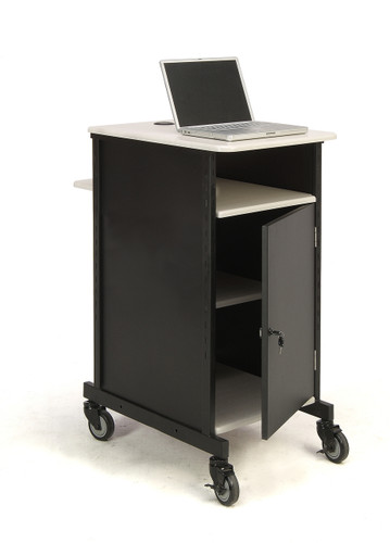 Jumbo Presentation Cart By Oklahoma Sound - Black / Ivory Woodgrain