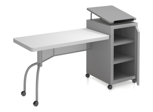 Edupod Lectern and Teacher's Desk Combo By Oklahoma Sound - Grey