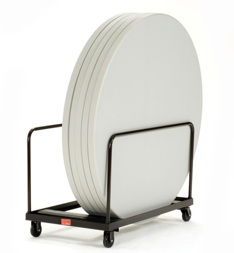 8-10 Capacity Edge Stack Round & Rectangle Folding Table Dolly By National Public Seating - Free Shipping - 10Warranty