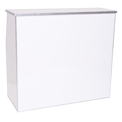 "Premier Series Portable Folding Bar - 48"" Wide - White Laminate - Free Shipping"