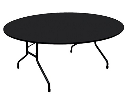 "Correll 3/4"" Thick Round High Pressure Laminate Folding Table - USA - 2 Sizes - 5 Colors"