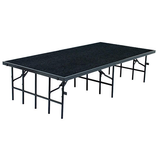 Carpeted Multi-Height Portable Performance Stage By National Public Seating - 4 Colors - 8 Sizes - 10Warranty