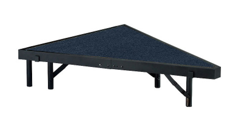 Multi-Height Carpeted Portable Performance Stage Pies By National Public Seating - 8 Sizes - 4 Colors - 10Warranty