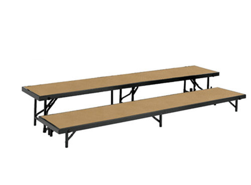 Multi-Level Portable Tapered Stage Riser With Hardboard Surface By National Public Seating - 3 Sizes - 10Warranty