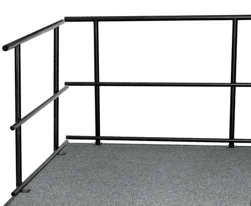 Guard Rails For Portable Performance Stages By National Public Seating - 3 Sizes - 10Warranty