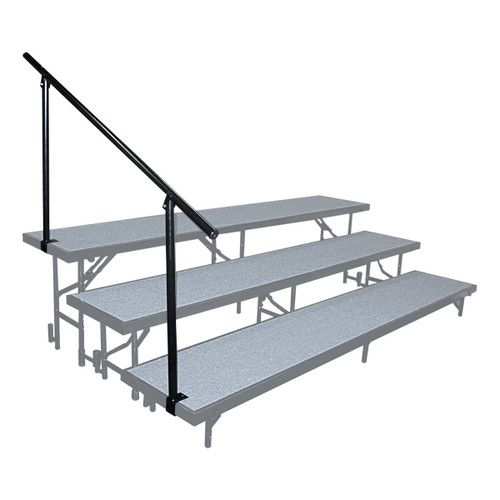Side Guard Rails For Standard Portable Risers By National Public Seating - 3 Sizes - 10Warranty
