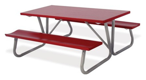 """Southern PikNik 30"""" x 72"""" Deluxe Aluminum Picnic Table (64"""" Width bench-to-bench) - 10 Colors"""