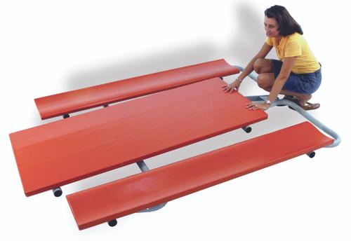 "Southern PikNik 30"" x 72"" Folding Aluminum Picnic Table - 10 Colors"