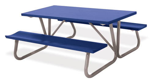 """Southern PikNik 30"""" x 96"""" Deluxe Aluminum Picnic Table (64"""" Width bench-to-bench) - 10 Colors"""