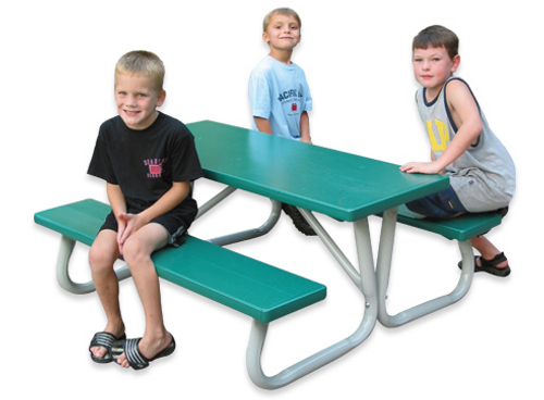 "Southern Lil' PikNik 24"" x 72"" Kids Aluminum Picnic Table - 10 Colors"