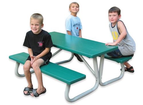 """Southern Lil' PikNik 24"""" x 72"""" Folding Kids Aluminum Picnic Table - 10 Colors"""