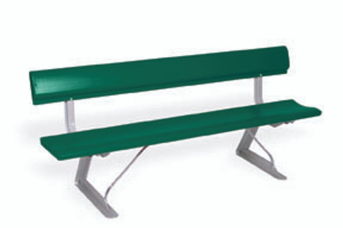 """Southern PikNik 12"""" x 96"""" (8ft) Aluminum Portable Bench with Backrest - 10 Colors"""