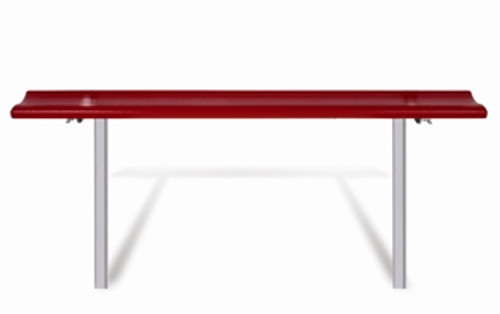 "Southern PikNik 12"" x 96"" (8ft) Aluminum Permanent Bench - 10 Colors"