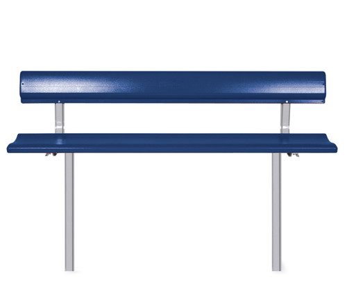 """Southern PikNik 12"""" x 96"""" (8ft) Aluminum Permanent Bench with Backrest - 10 Colors"""