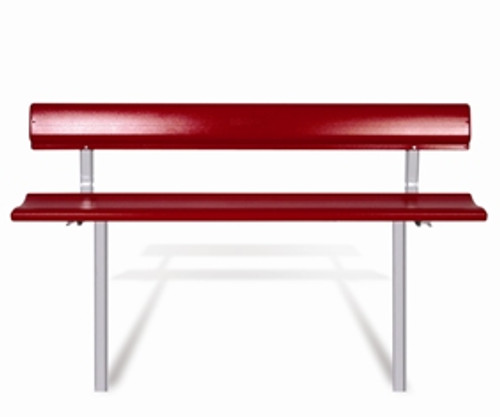 """Southern PikNik 12"""" x 72"""" (6ft) Aluminum Permanent Bench with Backrest - 10 Colors"""