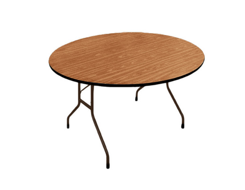 Correll Round Solid Plywood Core High Pressure Laminate Folding Table-USA Made (CL-PC60P) - USA - 2 Sizes - 2 Colors