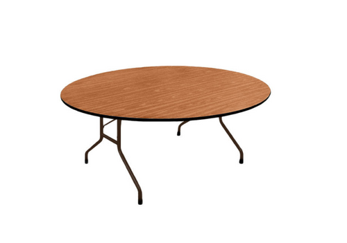 Correll Oval 60x72 Solid Plywood Core High Pressure Laminate Folding Table-USA Made (CL-PC6072P) - USA - 2 Sizes - 2 Colors