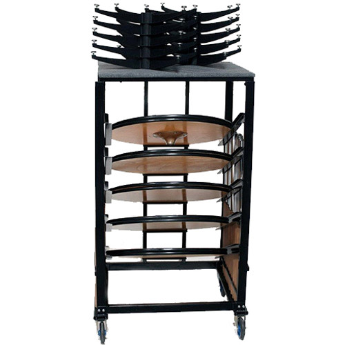 Transport and Storage Cart for High Top Cocktail Tables - 10 Table Capacity (PR-9300) - Free Shipping