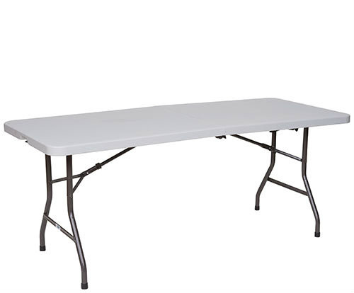 Premier Series Fold In Half Blow Molded Plastic Folding Table - 2 Sizes - Free Shipping