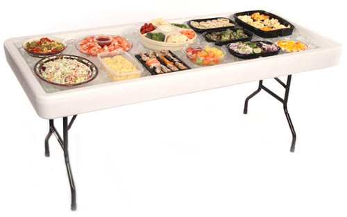 Fill 'N Chill Plastic Party Table - Free Shipping - 2 Colors