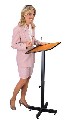 Portable Presentation Lectern with Adjustable Height Pole (OKS-70)