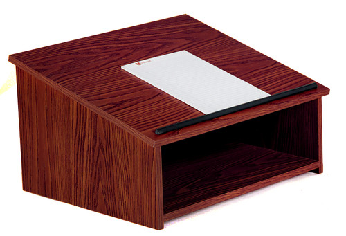 Tabletop Presentation Lectern (OKS-22) Mahogany - 3 Colors