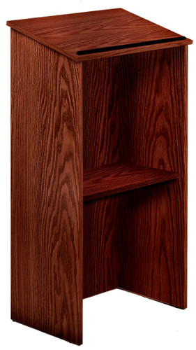 Full Floor Presentation Lectern (OKS-222) Mahogany - 3 Colors
