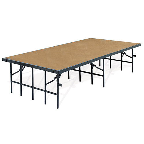 Hardboard Multi-Height Portable Performance Stage By National Public Seating - 8 Sizes - 10Warranty
