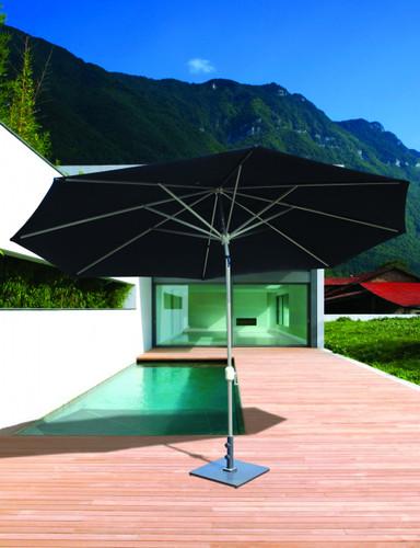 Galtech 8x11-ft. Oval Top Aluminum Umbrella With Autotilt Crank Lift, Model 779 - Free Shipping - 10+ Colors
