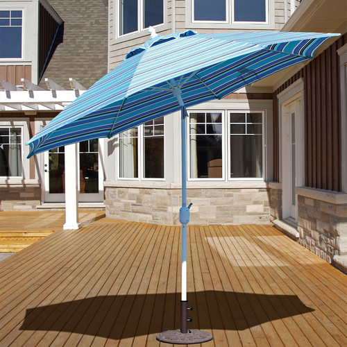 Galtech 9-ft. Aluminum Umbrella With Autotilt Crank Lift, Model 736 - Free Shipping - 10+ Colors