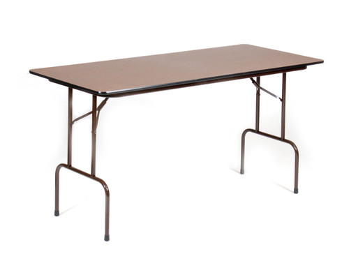 "Correll 30""W x 72""L (6 ft) Counter Height 3/4"" High-Pressure Laminate Folding Table - USA"