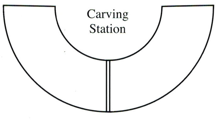 How to arrange your buffet area foldingchairsandtables