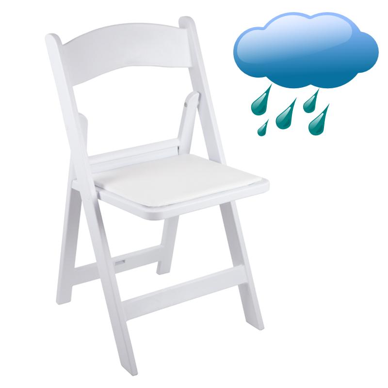 Classic Series White Resin Folding Chair 1000 lb Capacity Wedding Garden