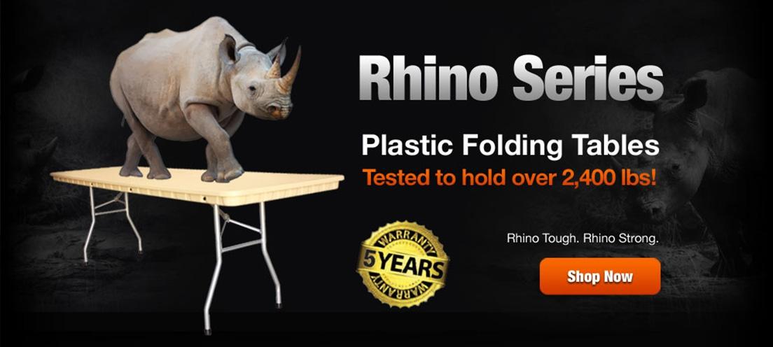 Rhino Plastic Folding Tables