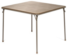 "XL Series 38"" Square Folding Card and Game Table, Wheelchair Accessible, Beige"