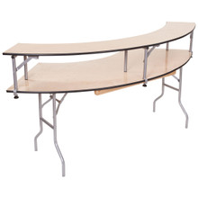 Classic Series 5' Portable Serpentine Table With Bar Top Riser