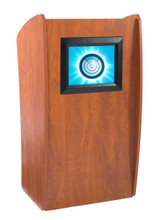 The Vision Floor Lectern With Digial Display By Oklahoma Sound