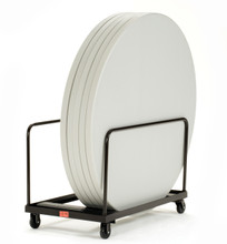 8-10 Capacity Edge Stack Round & Rectangle Folding Table Dolly By National Public Seating