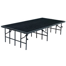 Carpeted Multi-Height Performance Portable Stages By National Public Seating